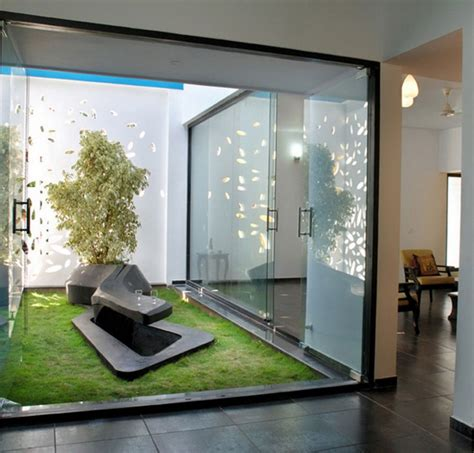 minimalist indoor garden beautiful modern house with