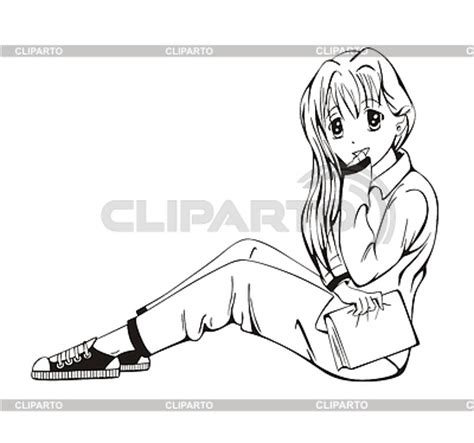 Anime Sitting Outline by Pin Anime Person Sitting Outline Image Search Results On