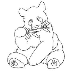 pandas colouring pages