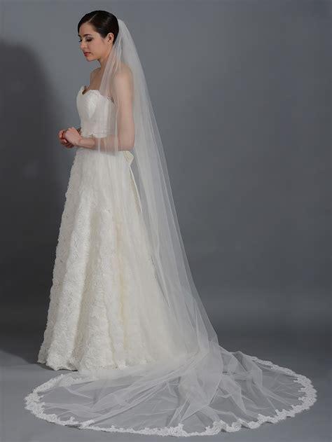 Wedding Veil by Ivory Wedding Veil Cathedral Length V043c