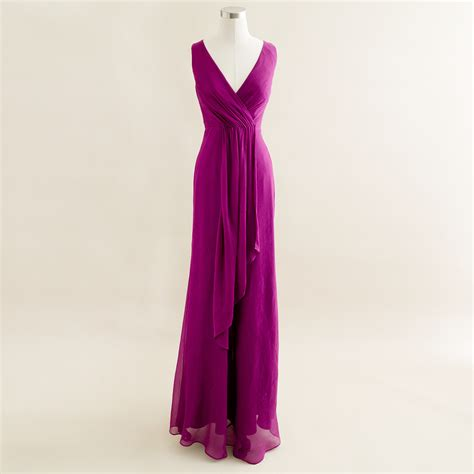 Dress Import Matt Chiffon j crew evie dress in silk chiffon in purple lyst
