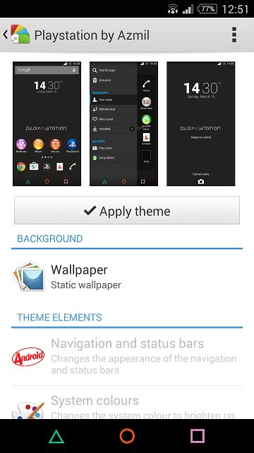 themes for rooted mobile ubun mobile theme playstation by azmil a simple theme