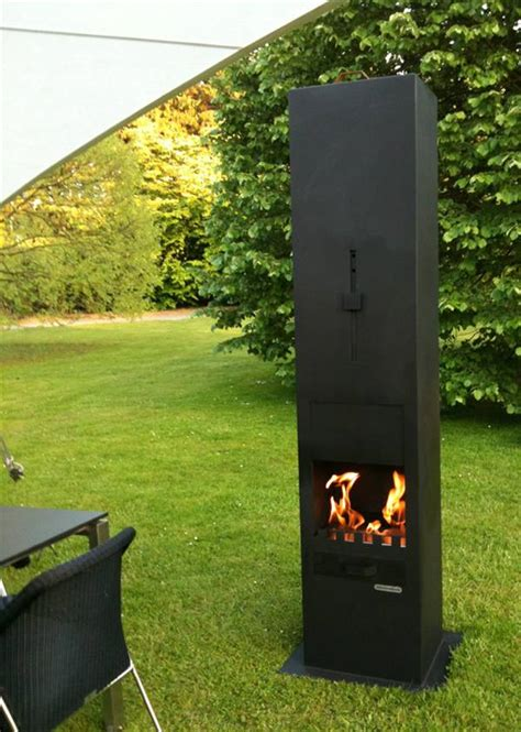 Outdoor Metal Fireplaces - functional exterior and outdoor fireplaces from zeno products interior design ideas and