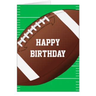 football themed birthday ecards sports greeting cards zazzle