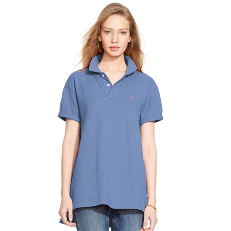 Boyfriend Blue Classic Model Murah polo ralph boyfriend polo shirt in blue lyst