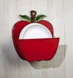apple decorations for kitchen apple themed paper plate dispenser beyond the kitchen