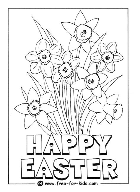coloring pages of easter flowers daffodils colouring picture holiday fun pinterest