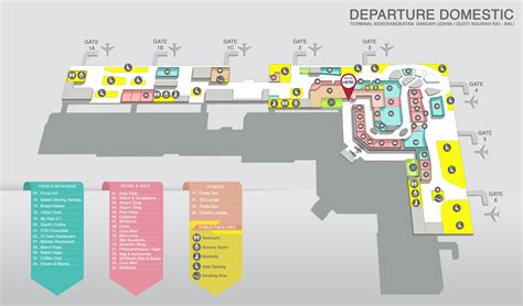 layout bandara syamsudin noor i gusti ngurah rai international airport bali
