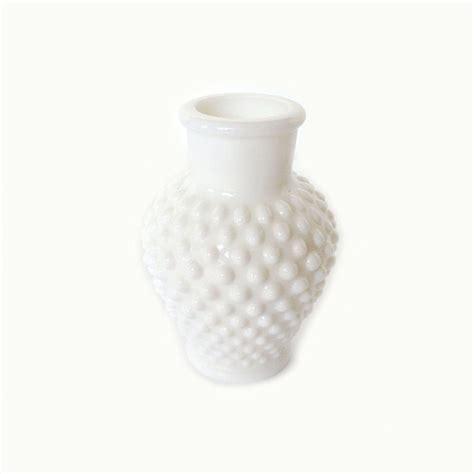 White Hobnail Vase by Vintage White Hobnail Milk Glass Vase