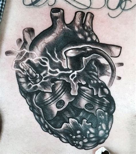 male heart tattoo designs 60 piston designs for unleash high horsepower