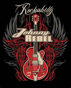 johnny rebel t shirt design wing guitar by russellink on