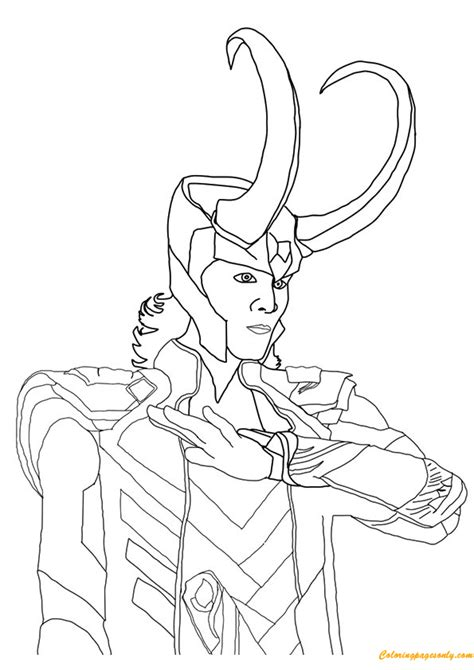 avengers loki coloring page avenger loki coloring page free coloring pages online