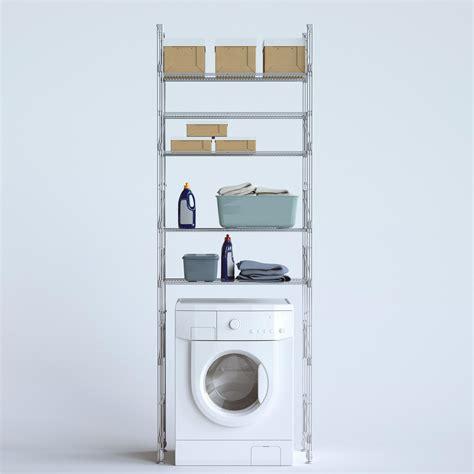 scaffale legno componibile scaffale componibile modulo lavatrice lia 80x42xh190 cm