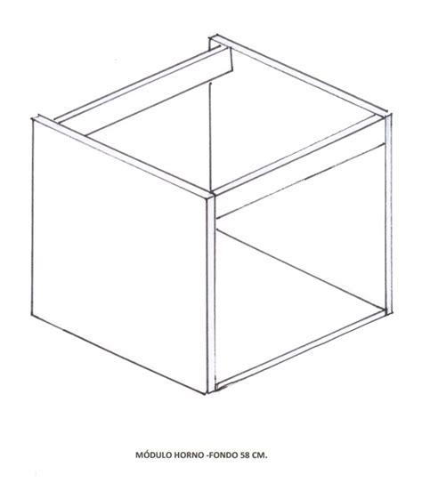 mueble bajo para horno de cocina en kit cocinas cascos modulos bajo horno fondo 58 cm