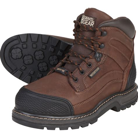 steel toe work boots free shipping gravel gear s waterproof 6in steel