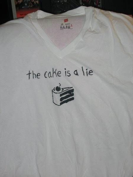 Tshirt Stay Roffico Cloth the cake is a lie t shirt 183 a t shirt 183 stencilling on cut out keep