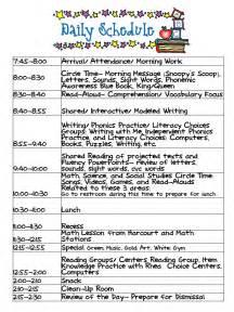 best 25 kindergarten schedule ideas on pinterest