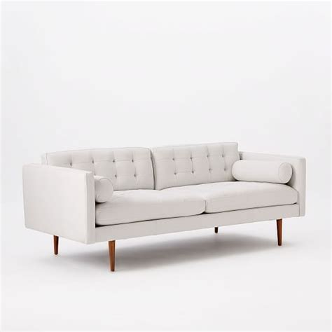 west elm monroe sofa review monroe mid century leather sofa 80 quot west elm