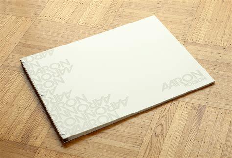 Handmade Portfolio Book - custom portfolio book oversized white acrylic with