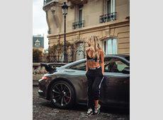 Maddy Burciaga avec une Porsche 991 GT3 et un Range Rover ... Range Rover