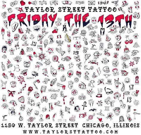friday the 13th tattoos san antonio friday the 13th chicago 12