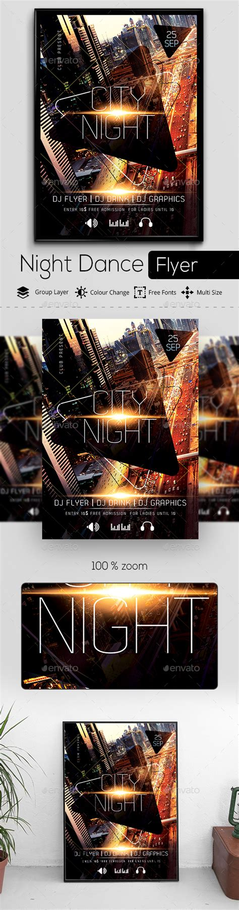 benefit city lights party nights graphicriver city light party flyer template photoshop