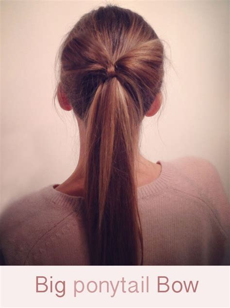 how do you put a pony tail scrunchie on short hair hairstyle tutorial big ponytail hair bow hair romance