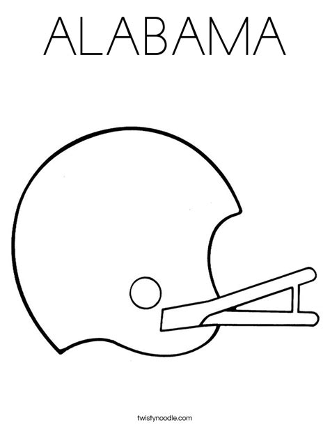 Alabama Football Coloring Pages coloring pages football helmet alabama freecoloring4u