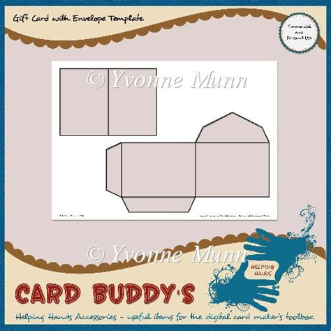 gift cards envelopes template gift card with envelope template cu pu 163 1 80 instant