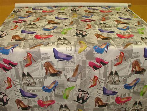 Designer Upholstery High Heel Shoes Photo Digital Printed Colour Designer