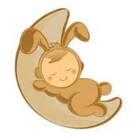 Kaos Bunny Sleep On Moon baby babies infant infants toddler toddlers infancy
