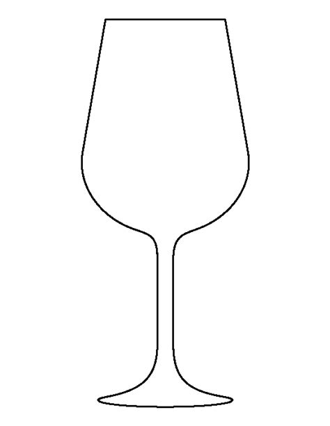 Printable Glass Stencils | wine glass pattern use the printable outline for crafts