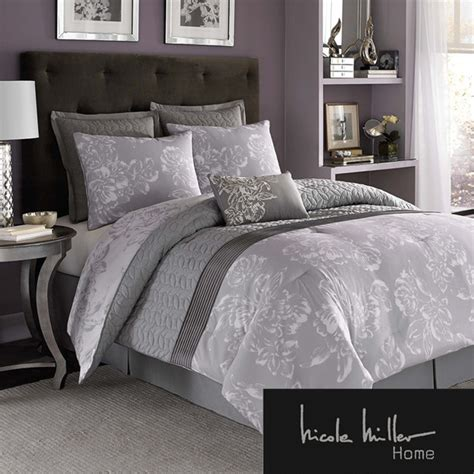 nicole miller floral 7 piece comforter set contemporary
