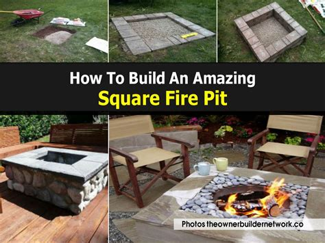 diy pit square how to build an amazing square pit