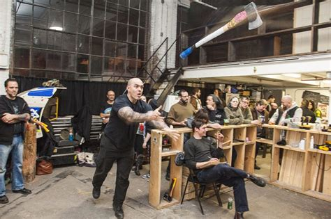 backyard axe throwing toronto how axe throwing became toronto s newest homegrown sport