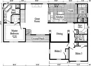 open floor plans for ranch style homes davenport ii ranch style modular home pennwest homes