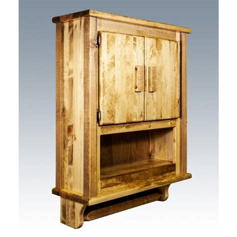 homestead barnwood wall cabinet rustic bathroom ideas