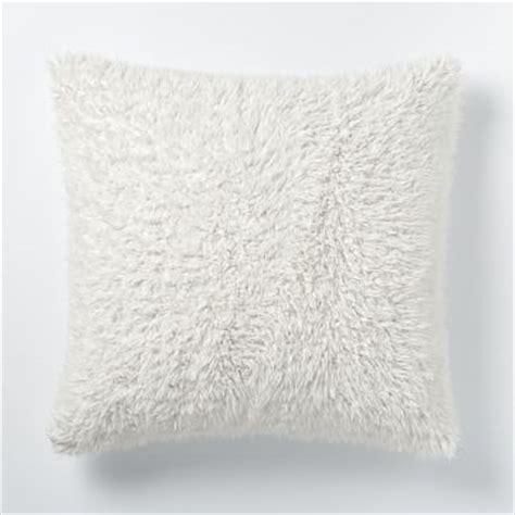 Sheepskin Pillow Covers by Faux Fur Sheepskin Pillow Cover West Elm