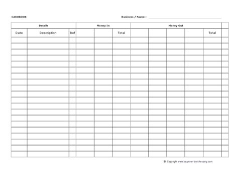 account book template printable cashbook spreadsheet template hashdoc