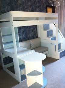 beds for tween tween loft bed with pullout desk sofa and multi functional stairs www upsidaisycreations co za