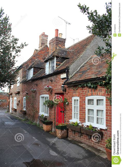 row of quaint cottages in kent royalty free stock images