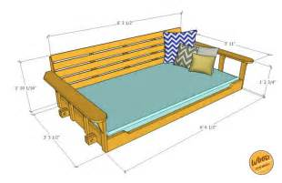 swing bed plans 25 best ideas about porch swing beds on pinterest swing