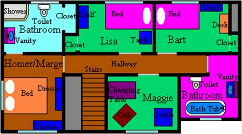 floor plan of the simpsons house the real simpsons house a replica animated shows forum