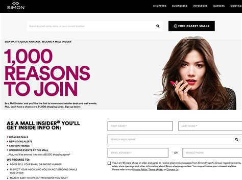 Contest Win 1000 Pink Mascara Shopping Spree by Simon Malls Insider Sweepstakes