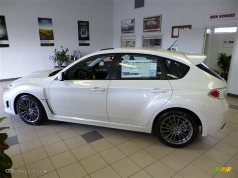 white subaru 2013 satin white pearl 2013 subaru impreza wrx limited 5 door