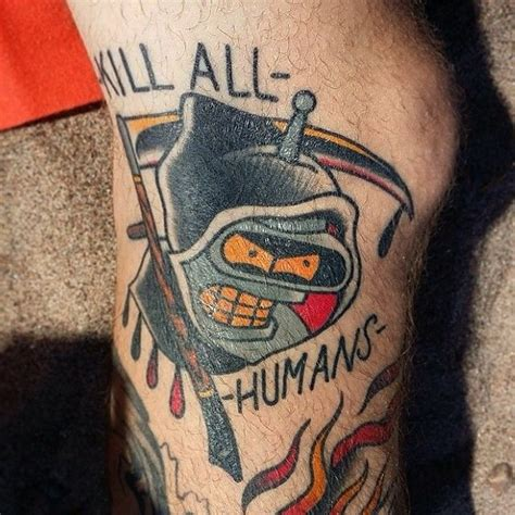 bender tattoo 50 best futurama tattoos images on