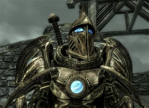 skyrim dwarven dwemer power armor aetherium armor and weapons compilation at skyrim nexus