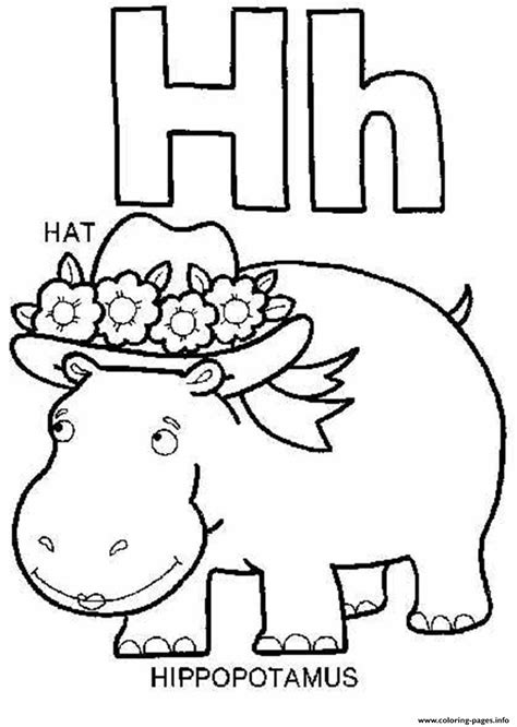 printable alphabet hats hippotamus and hat alphabet 1701 coloring pages printable