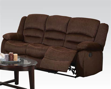 Acme Furniture Sofa by Acme Furniture Sofa W Motion Bailey Chocolate Ac51030
