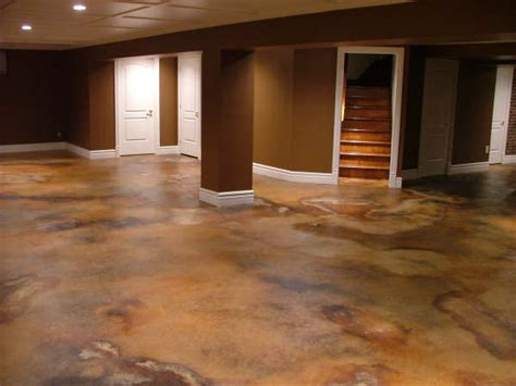 Staining Basement Floor by Rochester Stain Concrete Floors Pool Decks The